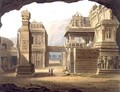 Great Excavated Temple at Ellora in 1813 - (after) Grindlay, Captain Robert M.