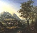 Travellers on a Path before a View on the Rhine - Jan the Elder Griffier