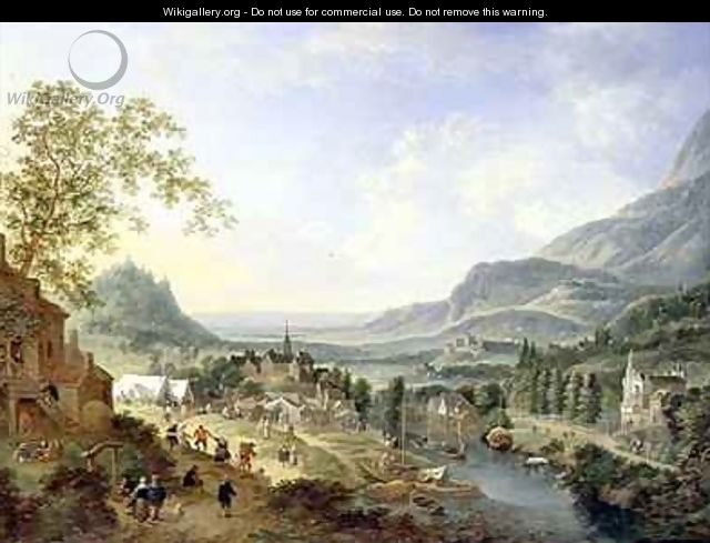A Village Fete in the Rhine Valley - Jan the Elder Griffier