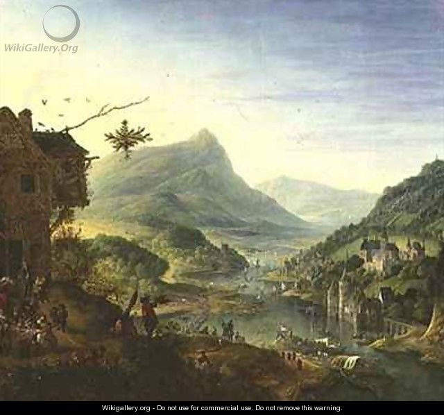 Panoramic view on the Rhine - Jan the Elder Griffier