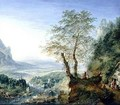 A capriccio river landscape - Jan the Elder Griffier