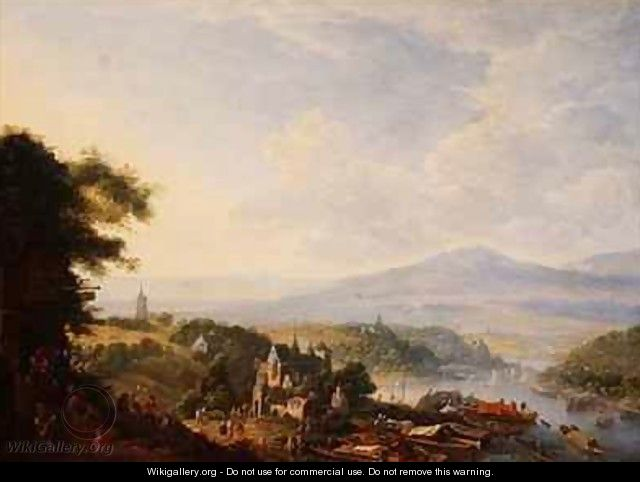 View on the Rhine near Cologne - Jan the Elder Griffier