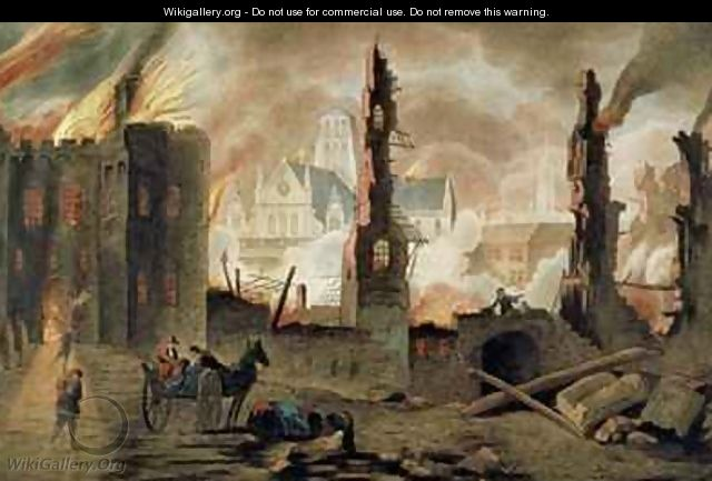 The Great Fire of London in the Year of 1666 - (after) Griffier, Jan the Elder