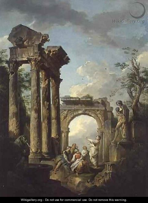 The Ruins of the Temple of Vespasian - Giovanni Maria Griffoni