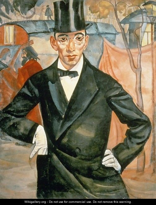 Portrait of Sherling from the cycle of portraits called The face of Russia - Boris Dmitrievich Grigoriev