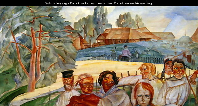 Russia from the cycle Visages de Russie - Boris Dmitrievich Grigoriev