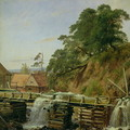 A Watermill in Christiania - Louis Gurlitt