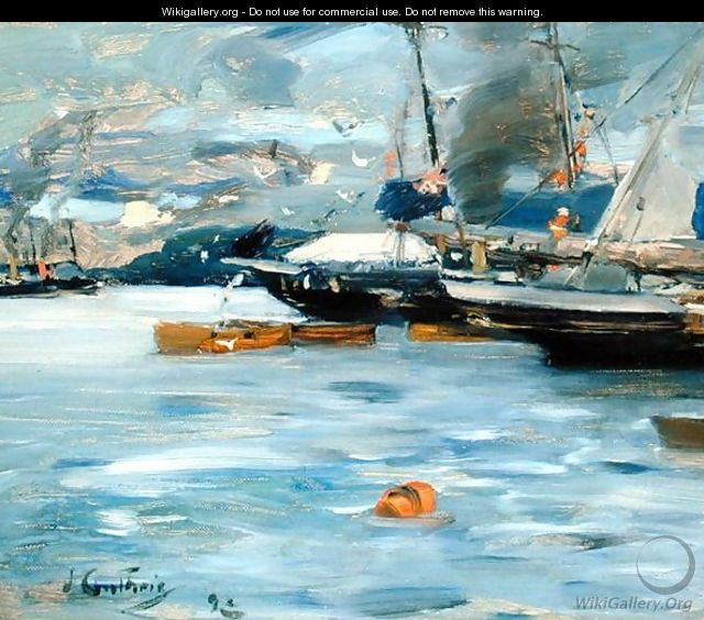 Moored Yachts Oban - Sir James Guthrie