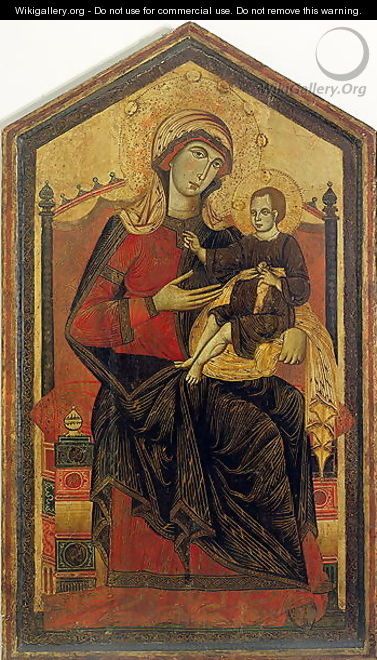 Madonna and Child Enthroned - Siena Guido da