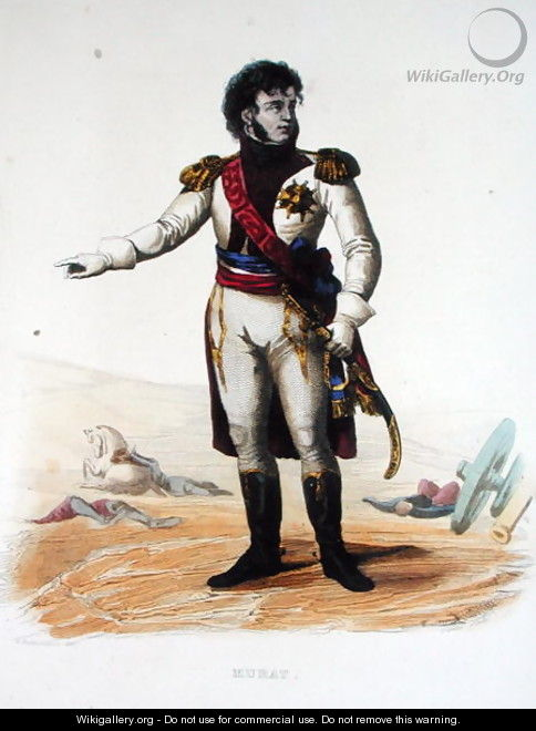 Portrait of Joachim Murat from Le Plutarque Francais - (after) Guilleminot, Armand