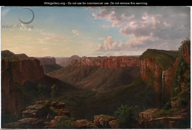 Govetts Leap and Grose River Valley Blue Mountains New South Wales - Eugene von Guerard