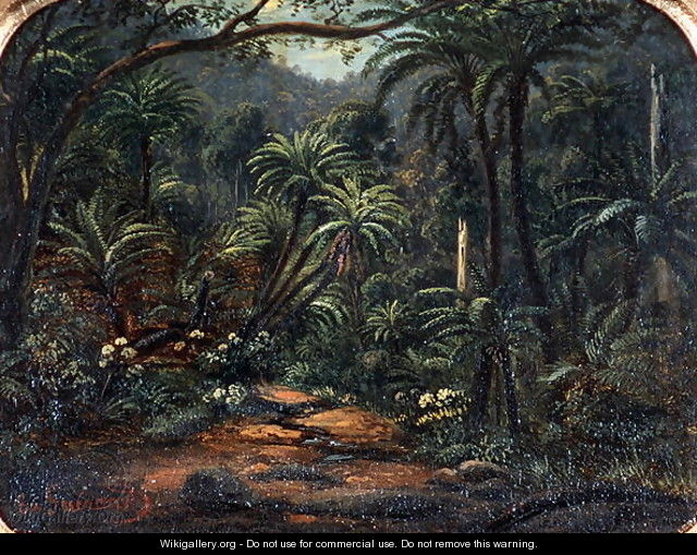 Ferntree Gully in the Dandenong Ranges - Eugene von Guerard