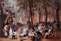 The Guignol Theatre on the Champs Elysees - Eugene Charles Francois Guerard