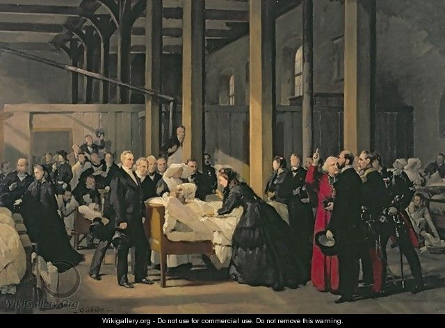 Empress Eugenie 1826-1920 Visiting the Cholera Victims at lHotel Dieu - Paul-Felix Guerie