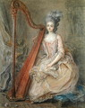 Presumed Portrait of Madame de Genlis Playing a Harp - Francois Guerin