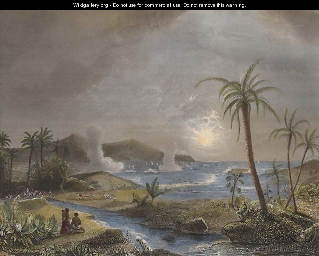 The battle of Martinique in 1674 - Theodore Gudin