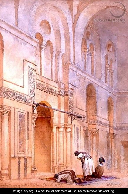 In the Mosque of Sultan Allahoon Cairo - Carl Haag