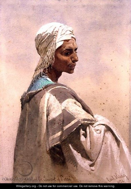Auwatt a Servant at the Convent of Sinai - Carl Haag