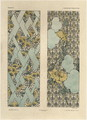 Floral patterns plate 48 from Fantaisies decoratives - (after) Habert-Dys, Jules-Auguste