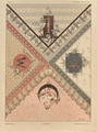 Letters plate 24 from Fantaisies decoratives - (after) Habert-Dys, Jules-Auguste