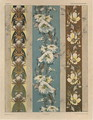 Flowers plate 18 illustration from Fantaisies decoratives - (after) Habert-Dys, Jules-Auguste
