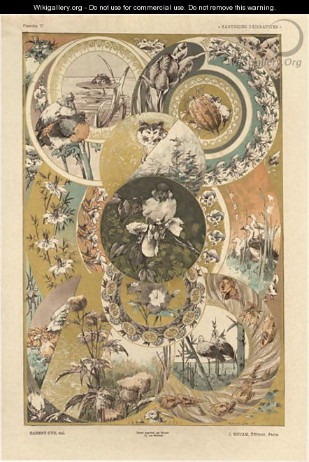 Circles plate 27 from Fantaisies decoratives - (after) Habert-Dys, Jules-Auguste