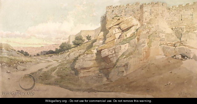 The Northern Wall of Jerusalem - Carl Haag