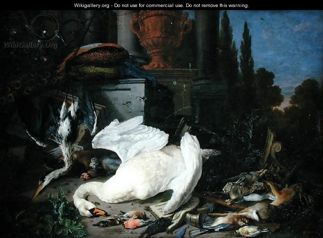 Still Life with Dead Birds - Pieter Gysels