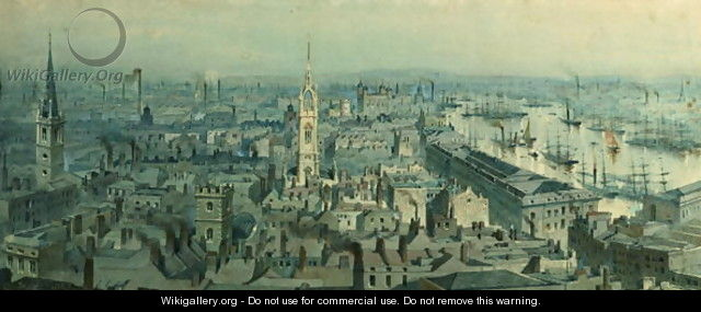 View of London from Monument looking East - Carl Haag