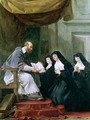 St Francois de Sales 1567-1622 Giving the Rule of the Visitation to St Jeanne de Chantal 1572-1641 - Noel Halle