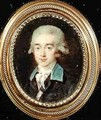 Portrait miniature of Count Hans Axel von Fersen - Noel Halle