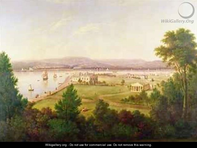 View of Exmouth from the Beacon Walls - W.H. Hallett