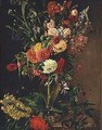 Flowers in a Glass Vase - Julie Wilhelmine Hagen-Schwarz