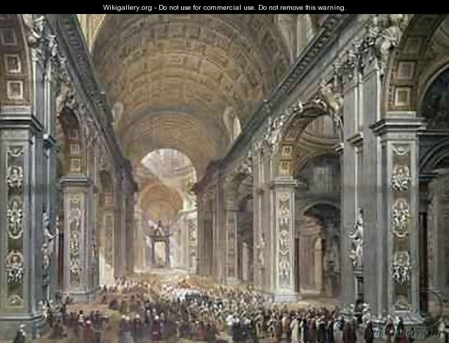 Interior of St Peters Rome - Louis Haghe
