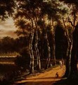An Avenue of Birches Beside a River - Jan Hackaert
