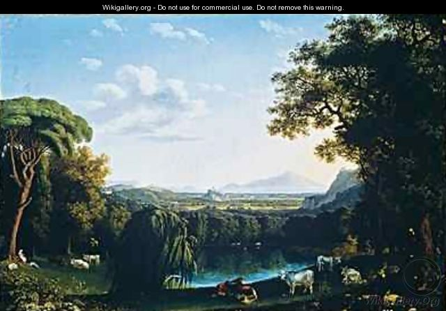 The English Garden of Caserta with views of Vesuvius - Jakob Philippe Hackert