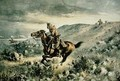 Pony Express pursued by Indians - Henry W. Hansen