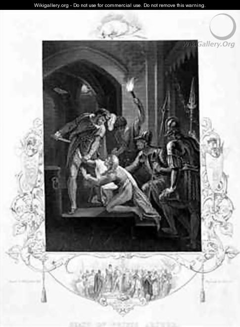The Death of Prince Arthur in King John by William Shakespeare 1564-1616 - William Hamilton