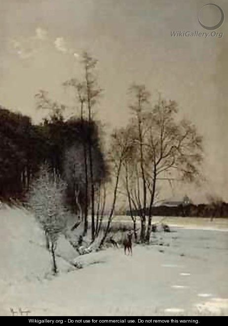 A Winter View in Posen - Hans Hampke