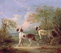 Spaniels in a landscape - Thomas Hand