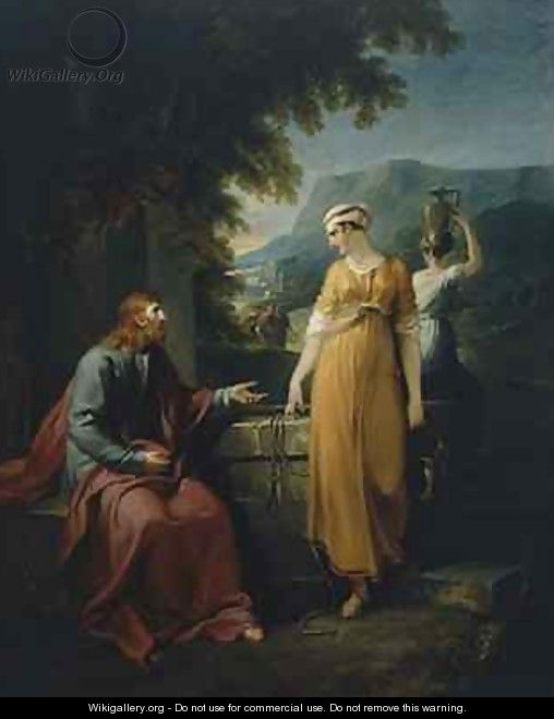 Christ and the woman of Samaria - William Hamilton