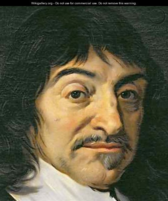 Portrait of Rene Descartes 1596-1650 3 - (after) Hals, Frans ...