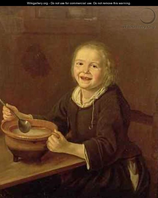 Boy eating Porridge - Reynier Fransz Hals