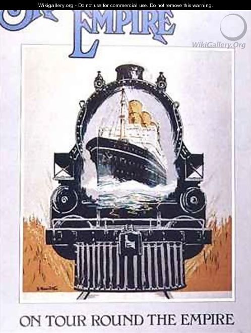 Poster advertising the Empire - E. Hamilton