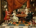 An Elegant Family Taking Tea - Gavin Hamilton
