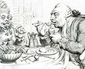 Temperance Enjoying a Frugal Meal 2 - James Gillray