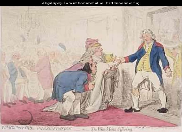 The Presentation or Wise Mens Offering - James Gillray