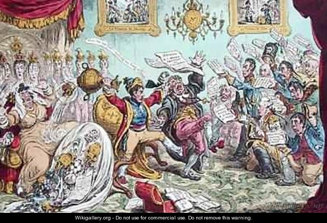 News from Calabria Capture of Buenos Ayres or The Comforts of an Imperial Dejeune at St Clouds - James Gillray
