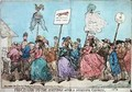 Procession to the Hustings after a Successful Canvass - James Gillray