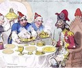 Dumourier dining in State at St Jamess on the 15th May 1793 2 - James Gillray